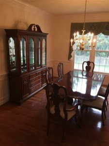 SOLD!  Dining set with china cabinet & 6 chairs--$450!