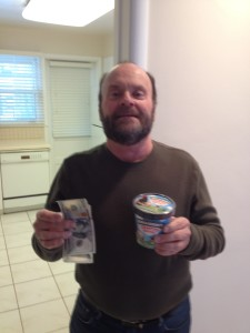 Neil gets $240 back within 72 hours of doing his hauling job!  He also scored on some Cherry Garcia ice cream from Ben & Jerry's :)